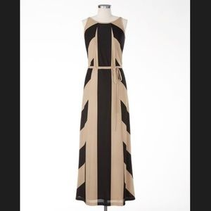 Coldwater Creek Chevron Maxi Dress